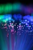 Bunter Hintergrund des optischen Netzkabels der Faser Stockfoto