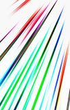 Bunter Hintergrund Farbige Streifen laufen von der oberen Ecke abwärts auseinander Lizenzfreies Stockfoto
