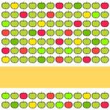 Bunter Hintergrund mit Äpfeln Lizenzfreies Stockbild
