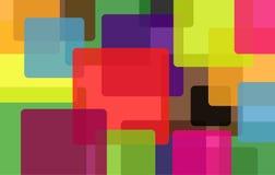 Bunter Hintergrund mit abstrakten Formen. Stockfotografie