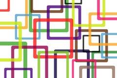 Bunter Hintergrund mit abstrakten Formen. Stockbild