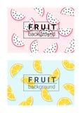 Bunter Hintergrund mit Früchten 1 Lizenzfreies Stockbild