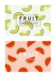 Bunter Hintergrund mit Früchten 2 Stockfotos