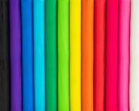 Bunter Hintergrund von Plasticine Mehrfarben vom Modellieren von Lehmbeschaffenheit lizenzfreie stockbilder