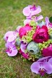Bunter Hochzeitsblumenstrauß Lizenzfreie Stockfotos