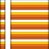 Bunter horizontaler Streifenhintergrund in den warmen Farben mit Weiß Stockfotografie