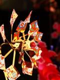 Bunter japanisches PapierPinwheel vom Tokyo-Tempel Stockfotos