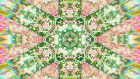 Bunter kaleidoskopischer Videohintergrund Bunte kaleidoskopische Muster Herein summen Regenbogenfarbkreisdesign laut Oder für Ere stock abbildung