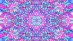 Bunter kaleidoskopischer Videohintergrund Bunte kaleidoskopische Muster Herein summen Regenbogenfarbkreisdesign laut Oder für stock abbildung