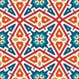 Bunter Kaleidoskopzusammenfassungshintergrund Eklektische Mosaikfliese Helles nahtloses Oberflächenmuster mit geometrischer Verzi Lizenzfreies Stockfoto