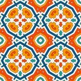 Bunter Kaleidoskopzusammenfassungshintergrund Eklektische Mosaikfliese Helles nahtloses Oberflächenmuster mit geometrischer Verzi Lizenzfreies Stockbild
