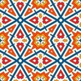 Bunter Kaleidoskopzusammenfassungshintergrund Eklektische Mosaikfliese Helles nahtloses Oberflächenmuster mit geometrischer Verzi Lizenzfreie Stockfotos