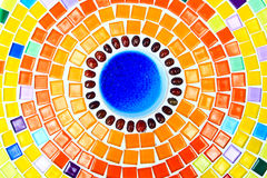 Bunter Keramikziegelboden. Lizenzfreies Stockfoto