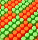 Bunter Kind-lego Ziegelstein-Spielzeughintergrund Lizenzfreie Stockfotos