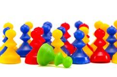 Bunte Kinderspielwarenplastikgruppe   Stockfotografie