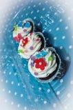 Bunter kleiner Kuchen Stockfotos