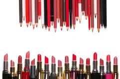 Bunter Kosmetiksatz Lizenzfreie Stockbilder