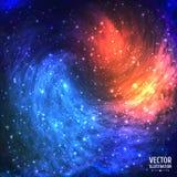 Bunter kosmischer Hintergrund mit dem Licht, glänzend Lizenzfreie Stockfotos