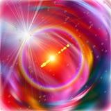 Bunter kosmischer Nebelfleck und Sterne der Energie in den violetten Farben Lizenzfreie Stockfotografie