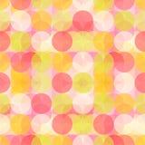 Bunter Kreis-nahtloses Muster Lizenzfreies Stockfoto