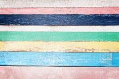 Bunter leerer hölzerner Planken-Hintergrund stockfoto