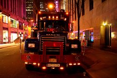 Bunter LKW in NYC Lizenzfreies Stockfoto