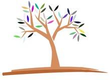 Bunter lokalisierter stilisierter Baum lokalisiert Lizenzfreies Stockfoto