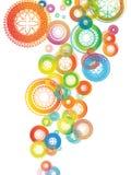 Bunter Mandala-Hintergrund lizenzfreies stockfoto