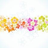 Bunter mit Blumenhintergrund Stockbild
