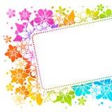 Bunter mit Blumenhintergrund Lizenzfreie Stockbilder