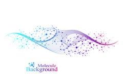 Bunter Molek?lhintergrund DNA-Helix, DNA-Strang, DNA-Test-Molek?l oder Atom, Neuronen Abstrakte Struktur f?r vektor abbildung