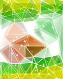Bunter Mosaikdreieckhintergrund Lizenzfreies Stockfoto
