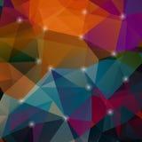 Bunter Mosaikhintergrund der Polygone Lizenzfreie Stockbilder