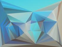 Bunter Mosaikhintergrund des Dreiecks Stockbild