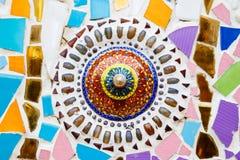 Bunter Mosaikkunstzusammenfassungs-Wandhintergrund Stockfotos