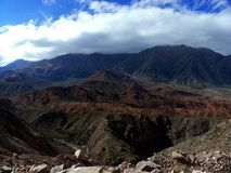 Bunter Mountain View Stockfoto