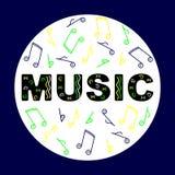 Bunter Musik-Hintergrund Stockfoto