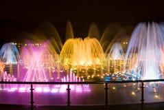 Bunter musikalischer Brunnen in Moskau Lizenzfreie Stockbilder