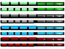 Bunter Navigationsstab Stockbild