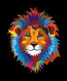 Bunter netter kluger Lion Illustration Stockbilder