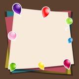 Bunter Papier-und Ballon-Hintergrund Stockfoto