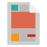 bunter Papierblatttext und -graphiken lizenzfreie abbildung