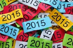 Bunter Papierhintergrund des Jahres 2015 Stockbild