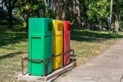 Bunter Park-Abfall Stockfoto