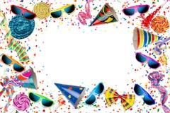 Bunter Parteikarnevalsgeburtstags-Feierhintergrund lizenzfreie abbildung