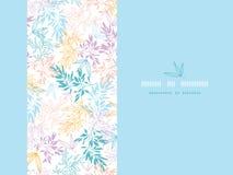 Bunter Pastell verzweigt sich die horizontale nahtlose Karte Stockbilder