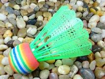Bunter Plastikfederball Lizenzfreies Stockfoto