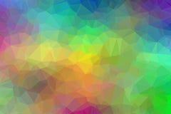 Bunter Polygonzusammenfassungshintergrund Lizenzfreies Stockbild