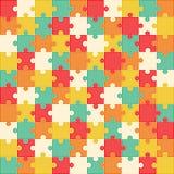 Bunter Puzzlespielhintergrund, Vektorillustration Lizenzfreies Stockfoto