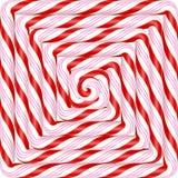 Bunter quadratischer Lutscherspiralen-Süßigkeitshintergrund Vektor illustr Stockfotos